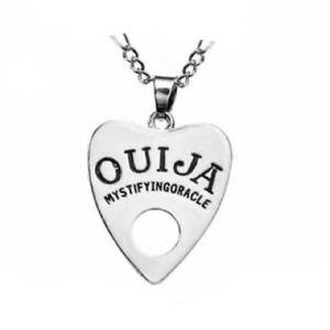 Silver Ouija Planchette Necklace